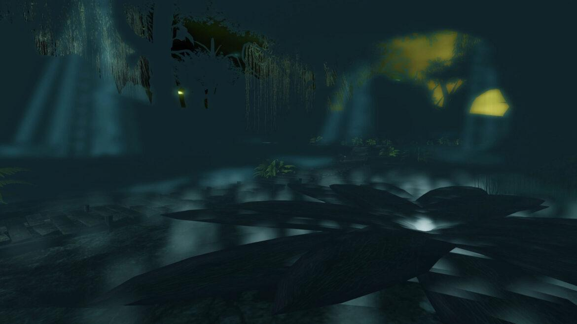 Swamp Side by Nightfall: Sound and Visual Relaxation